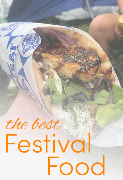 Pinterest share image - delicious greek souvlaki wrap with blog title