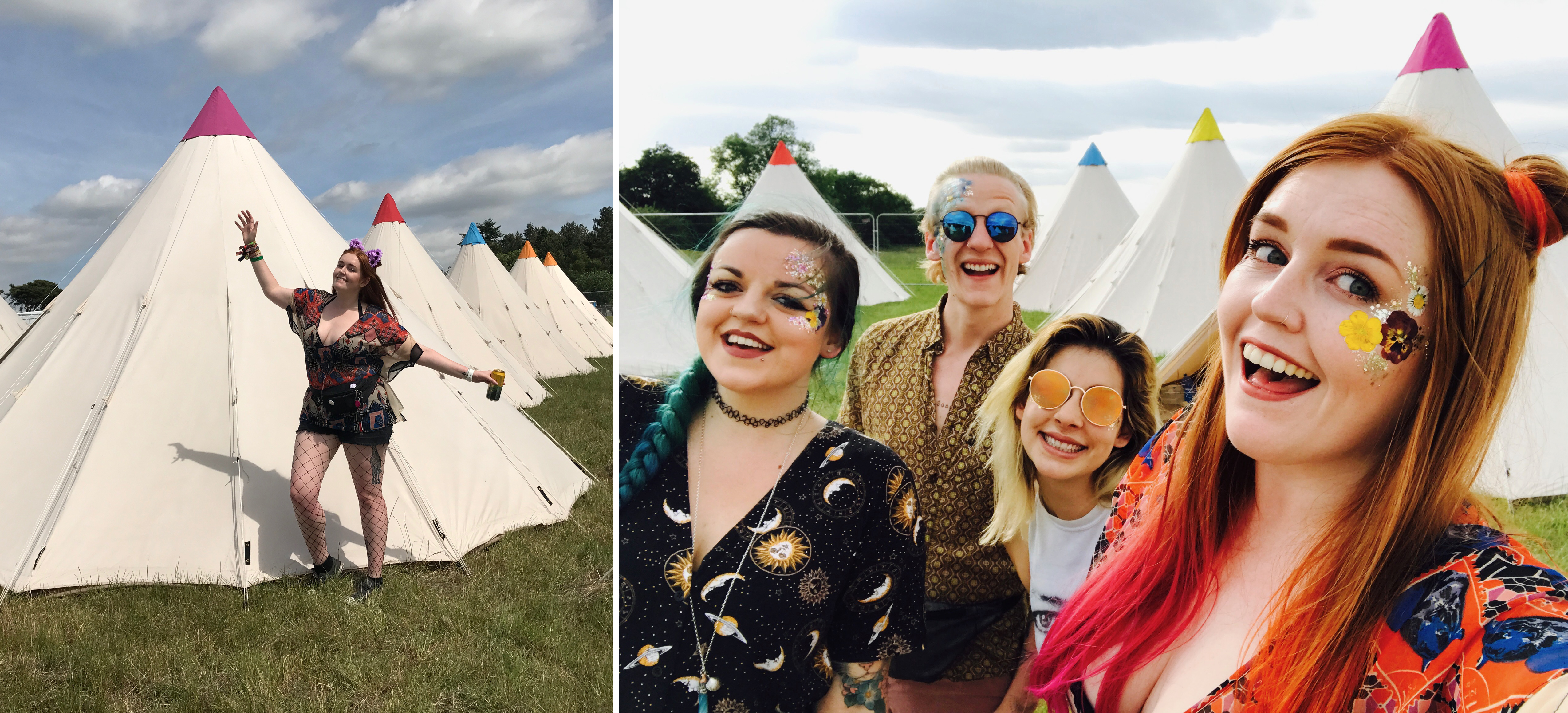 Being happy in our amazing tipi field!