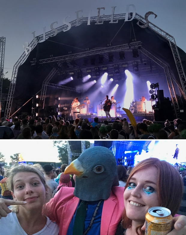 Metronomy on the main stage, and when Lara and I met a well dressed pigeon