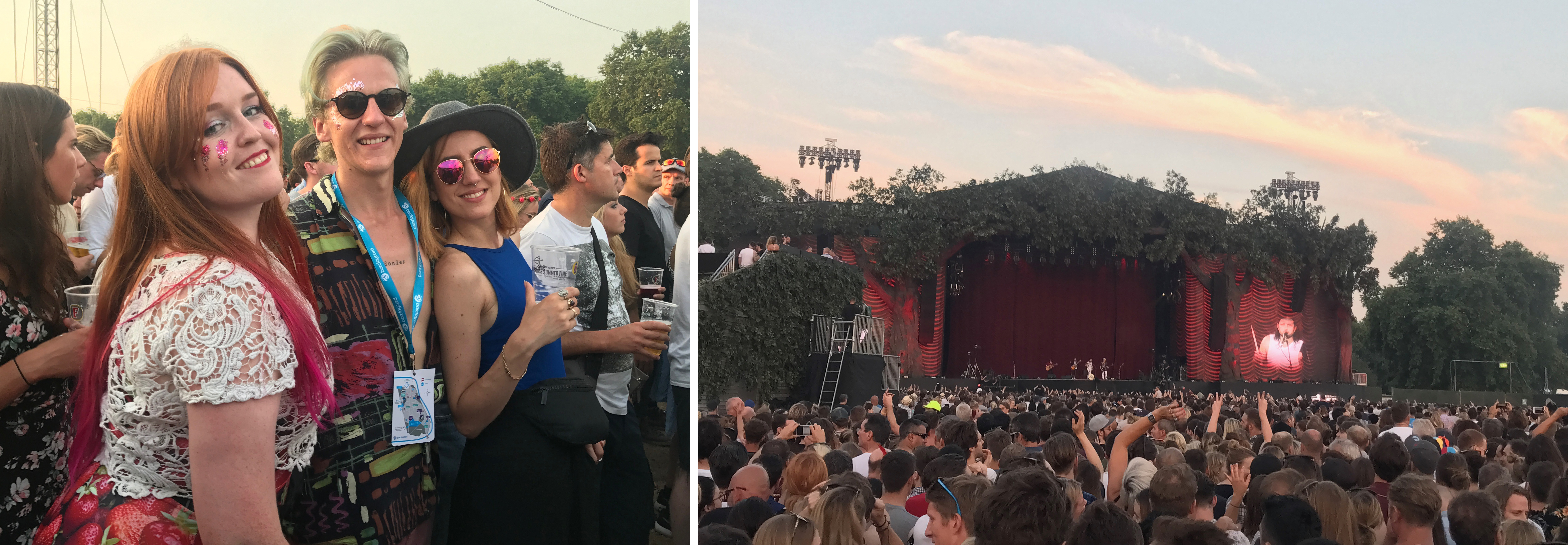 Kings of Leon paling the Great Oak Stage