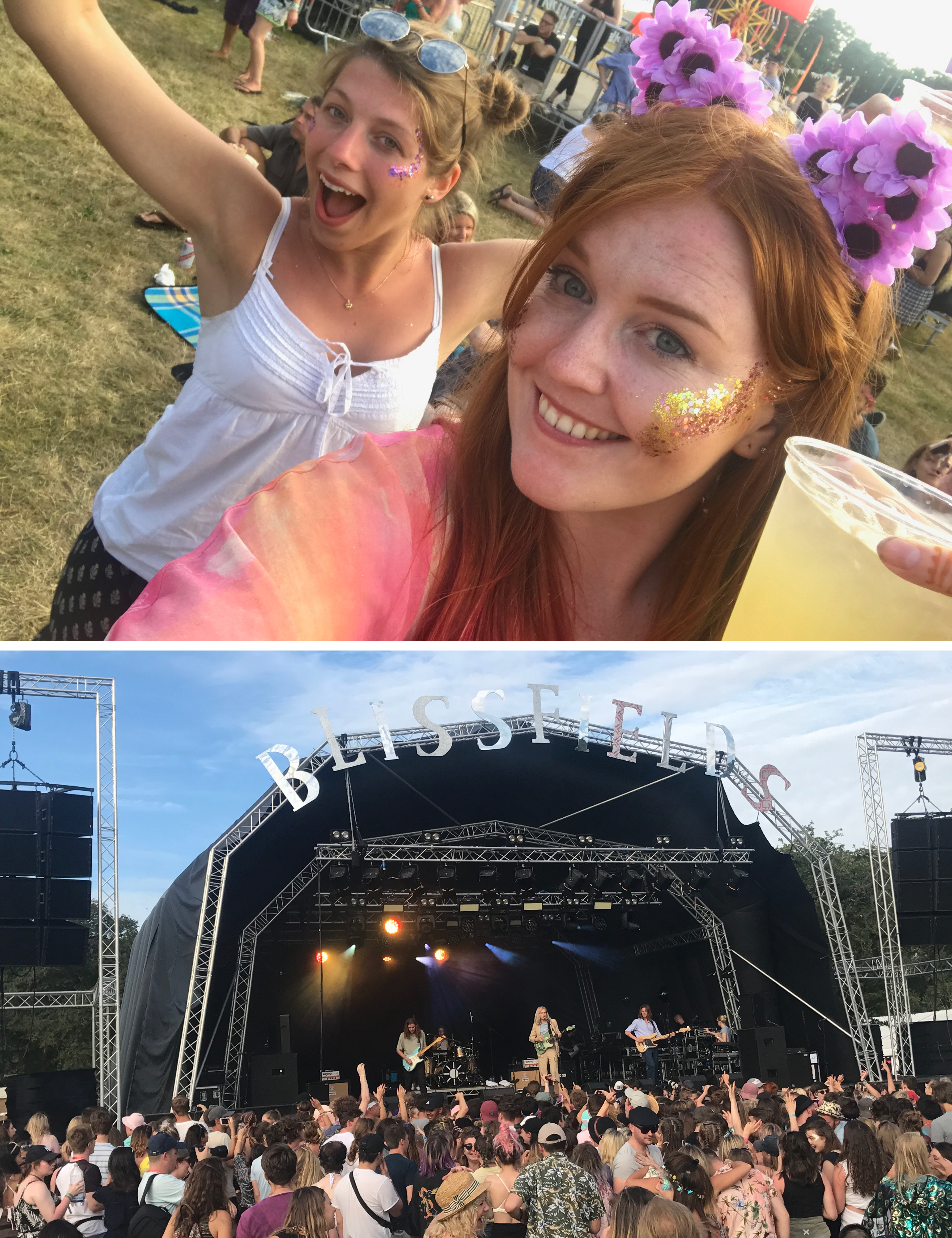 Lara and I in the mood for dancing, and Sundara Karma take to the main stage in the sunshine