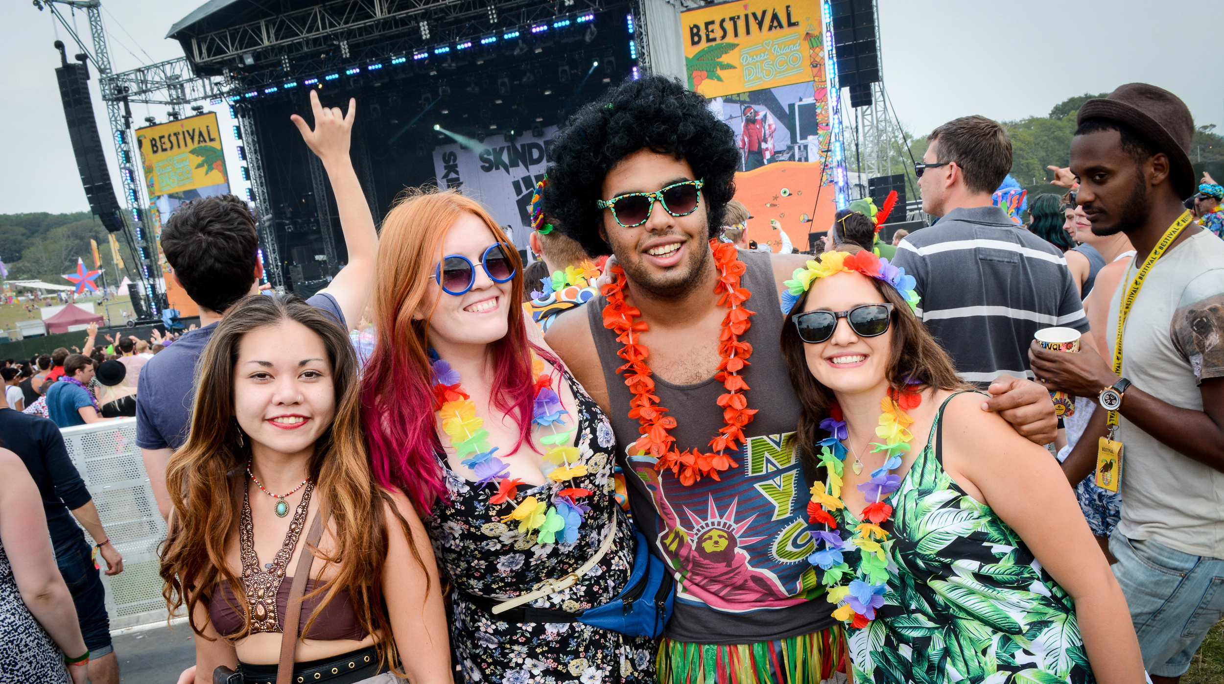Looking suave in front of the main stage at Bestival 2014