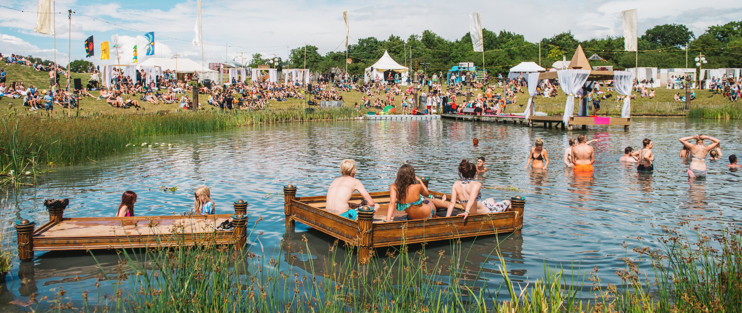 The Lido in the Sanctuary at Secret Garden Party.