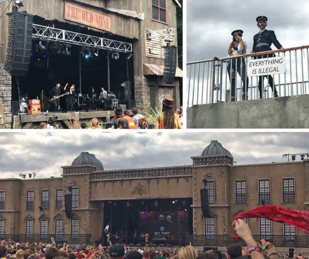 Heymoonshaker at the Old Mines, The Boomtown Bobbies on patrol, and Sugarhill Gang not he Town Centre stage