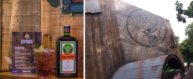 The Lagerhaus Jagermeister area at Bestival and a delicious Root56 cocktail