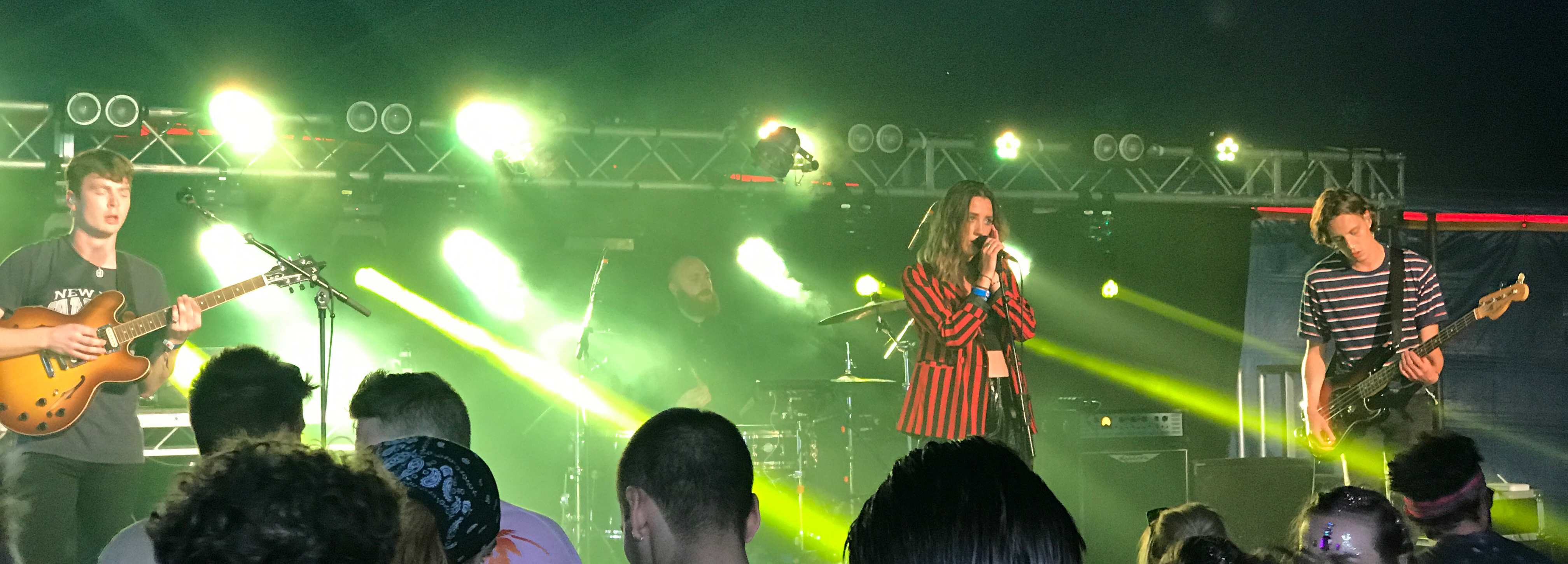 Yonaka at the Invaders of the Future stage at Bestival 2017 uk music festival