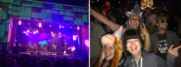 Sublime with Rome on the Town Centre stage at Boomtown Fair, and my glitter crazy friends