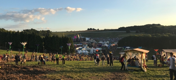 The view from the top of Hippy Highway boomtown fair tents