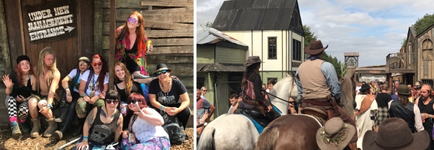 Wild West area at Boomtown Fair with my awesome friends