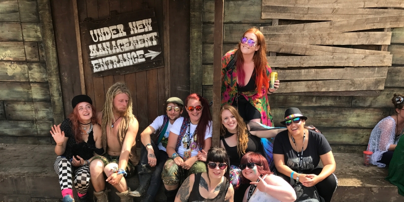 My super squad photo in the Wild West area of Boomtown in the sunshine