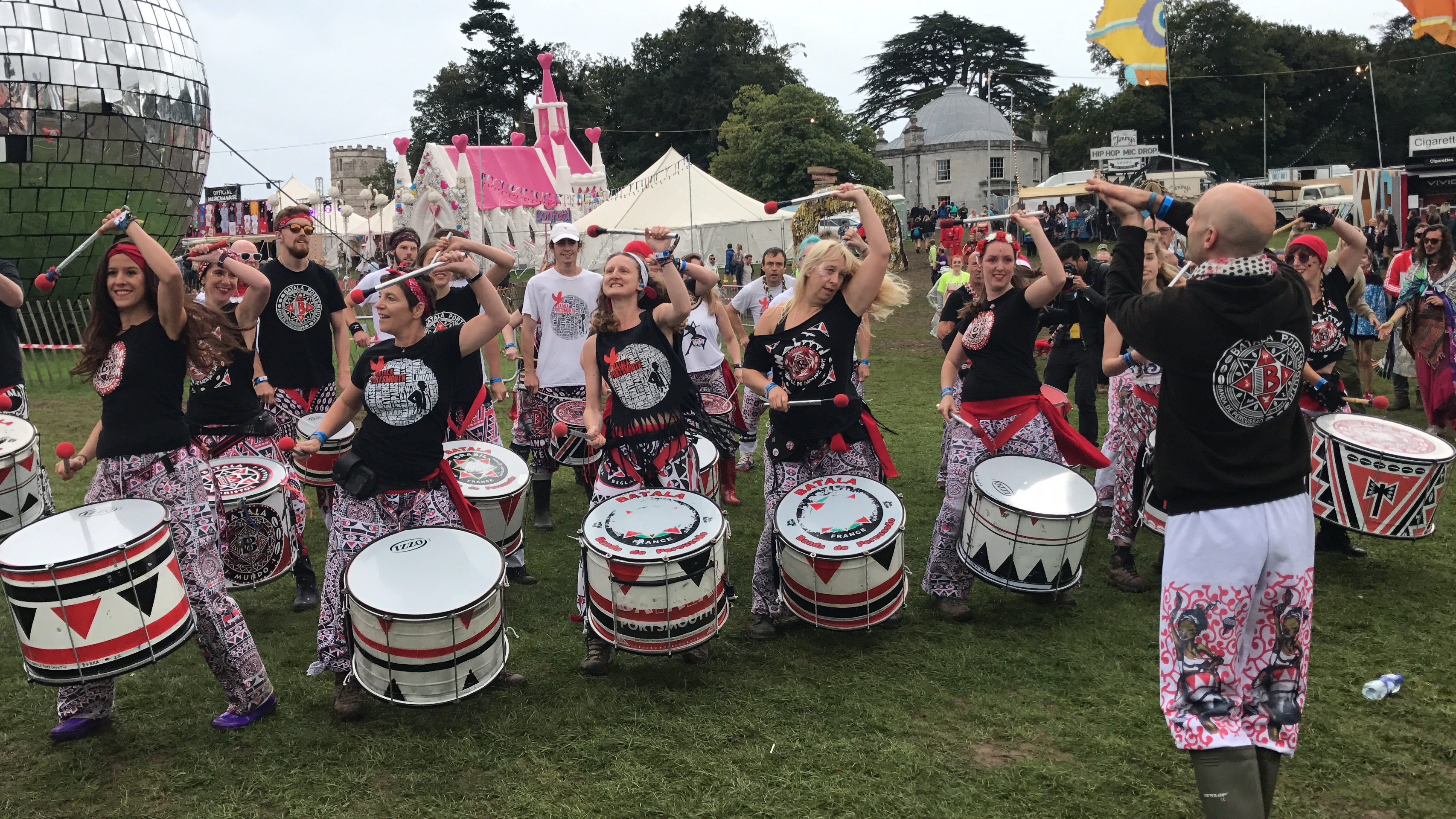 Batala Portsmouth doing their thing drumming at Bestival